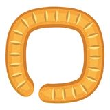 Sign circular bread icon, cartoon style Royalty Free Stock Image