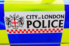Sign of the City of London Police at a police car Stock Photography