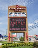Sign at the Clay Cooper Theater, Branson Missouri Stock Images