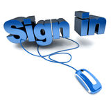 Sign in click Stock Image