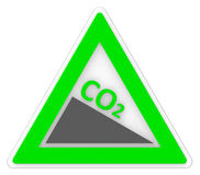 Sign Co2 Shows Carbon Footprint And Emission Stock Photos