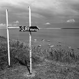 Sign on the coast Royalty Free Stock Photo