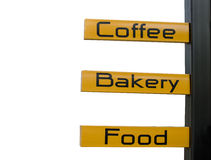 Sign ,coffee,bakary,food Royalty Free Stock Photography