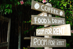 A sign of a coffee shop Royalty Free Stock Images