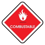 Sign combustable. Dangerous infographic - warning sign - combustable Royalty Free Stock Photo