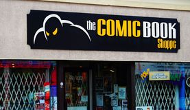 Sign Comic Book Shoppe in Ottawa stock photo