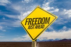 Freedom sign on concept image stock images