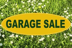 Garage Sale. Sign Concept with lettering `Garage Sale Stock Photo