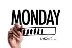 Monday on a conceptual image. Sign on a conceptual image Stock Photos