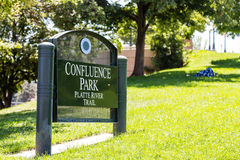 Sign for Confluence Park Stock Photos