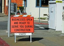 Sign on construction site Stock Image