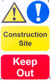 Sign 'Construction Site Keep Out' Royalty Free Stock Photos
