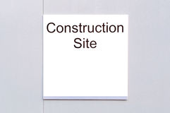 Sign 'Construction Site' Stock Image