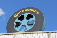 Sign Continental of Tire Shape Royalty Free Stock Photography