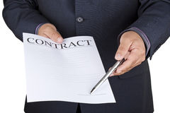 Sign the contract Royalty Free Stock Photos