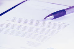 Sign contract document.money.profit Royalty Free Stock Photography