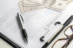 Sign contract document.money,work Stock Image