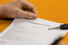Sign a contract 3 Royalty Free Stock Image