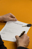 Sign a contract 5 Stock Photography