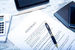 Sign a Contract Royalty Free Stock Photo