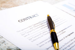 Sign a Contract Stock Images