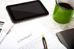 Sign a Contract Stock Photo
