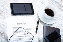Sign a Contract Stock Photos