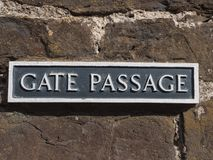 Sign at Conwy Castle, Wales Royalty Free Stock Photography