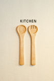 Kitchen tools. Sign of cooking room Royalty Free Stock Image