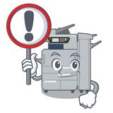 With sign copier machine in the cartoon shape. Vector illustration stock illustration