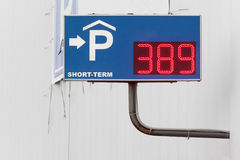Sign of the covered parking Royalty Free Stock Images