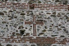 Sign of cross in Monasteries in Greece Stock Photos