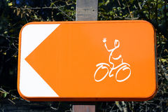 Sign for cyclists to turn around Stock Photos