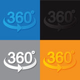 360 sign in 3d flat style Royalty Free Stock Images