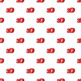 Sign 3d pattern, cartoon style. Sign 3d pattern. Cartoon illustration of sign 3d vector pattern for web Royalty Free Stock Images