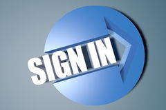 Sign in Stock Photography