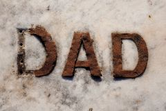 Sign Of Dad on Marble Royalty Free Stock Images
