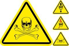 Sign on danger Stock Image