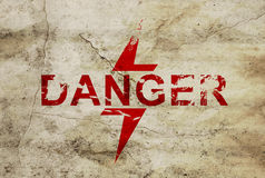Sign for danger area Stock Image