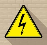 Sign `Danger electric shock!` Royalty Free Stock Images