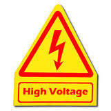 Sign of danger of electricity from high voltage Stock Photo