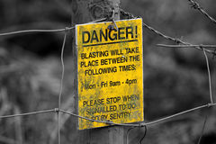 Sign danger explosives Royalty Free Stock Image