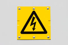Sign of danger high voltage symbol Stock Photography