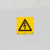 Sign of danger high voltage symbol Royalty Free Stock Images
