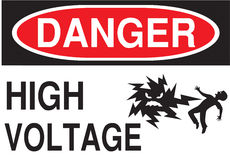 Sign Danger High Voltage in Vector Stock Images