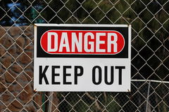 Sign DANGER Royalty Free Stock Photos