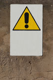 Danger signal. On a wall of a disused industrial structure Stock Images