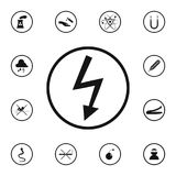 Sign dangerous electricity icon. Detailed set of Warning signs icons. Premium quality graphic design sign. One of the collection i. Cons for websites, web design stock illustration