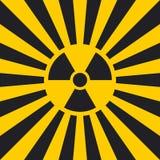Sign dangerous Ionizing radiation pop art style, vector Ionizing radiation sign in yellow Hazard symbol background warning Stock Photos