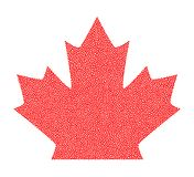Sign dark canada maple leaf stipple. Dotted pixel Abstract maple leaf. Summer and autumn theme sale. Vector illustration. Sign dark canada maple leaf stipple Royalty Free Stock Photography